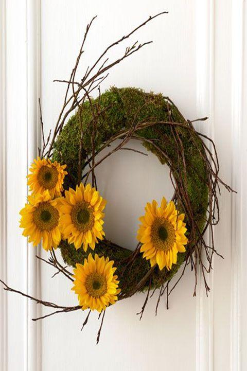 diy wreaths sunflower wreath