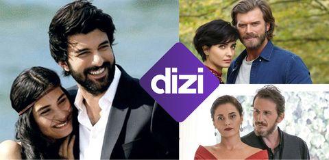 imágenes de series turcas con el logo de dizi, el nuevo canal de amazon prime video