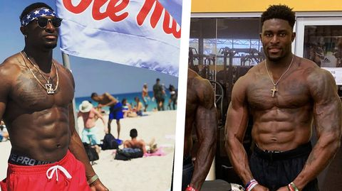 Bodybuilding, Barechested, Bodybuilder, Muscle, Competition event, Chest, Physical fitness, Arm, Abdomen, Fitness professional,