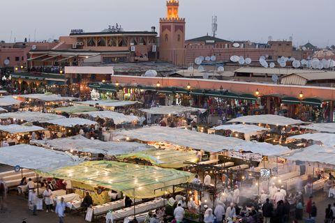 Djemma-el-Fna square, Marrakech, Morocco
