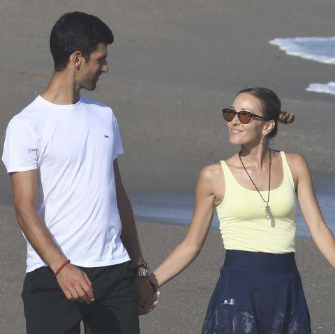 Djokovic y su mujer