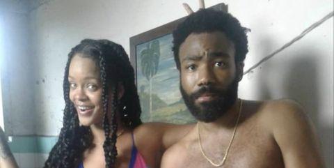 Rihanna y Donald Glover en Cuba