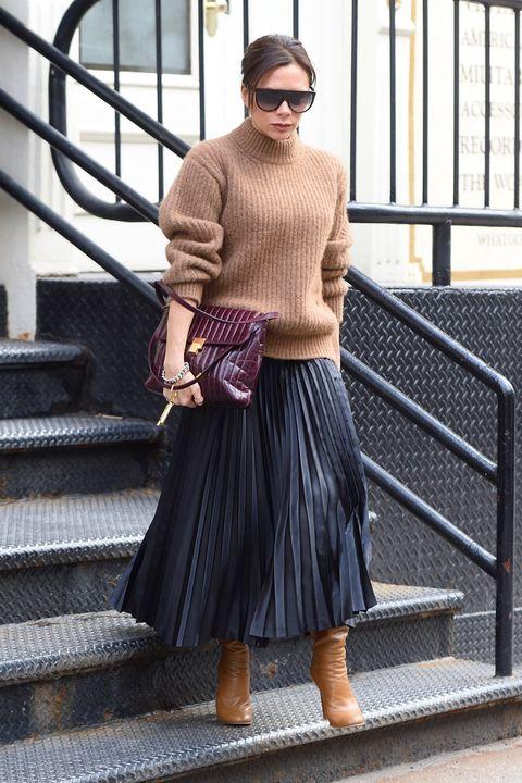 adca429bb Victoria Beckham tiene el look perfecto para los días de frío