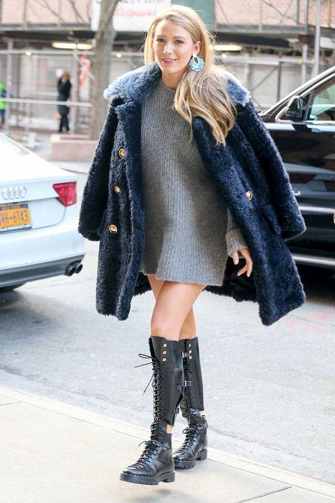 Clothing, Street fashion, Fashion, Footwear, Boot, Knee-high boot, Fur, Knee, Snapshot, Outerwear,