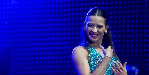 David Bustamante y su nueva ilusión, la profesora de baileYana Olina , en la presentación de 'Bailando con las estrellas'