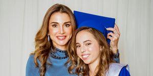Rania de Jordania en la graduación desu hija Salma