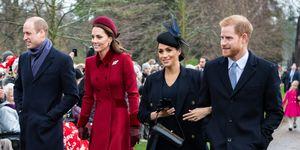 Duques de Sussex y duques de Cambridge