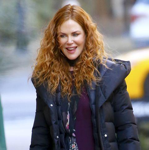 Nicole Kidman en el set de rodaje de su nueva serie 'The Ungoing'