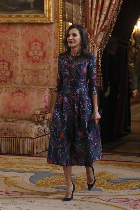 3cfaef442d Letizia y el vestido que Melania Trump llevó antes que ella ...
