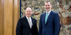 Alberto de Mónaco en Zarzuela con Rey Felipe VI