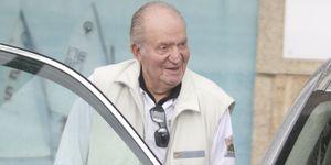 El rey Juan Carlos reaparece con una herida en la frente
