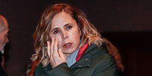 Las lágrimas de Ágatha Ruiz de la Prada en el funeral de Cristina de Borbón