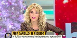 Alba Carrillo regresa a la televisión