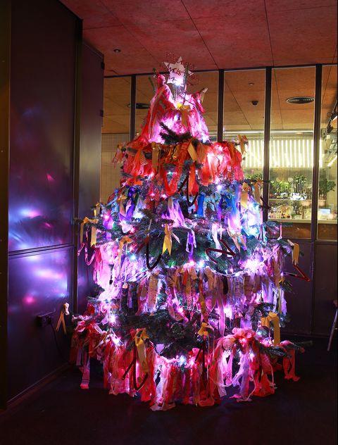 Zandra Rhodes 'Rainbow Rag Tree' Launch