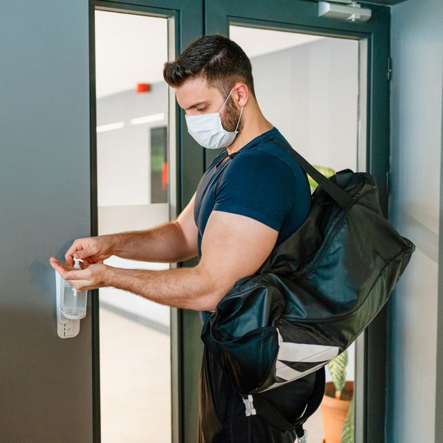 do not forget to disinfect hands when entering the gym