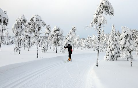 Cross-country skiing for cyclists