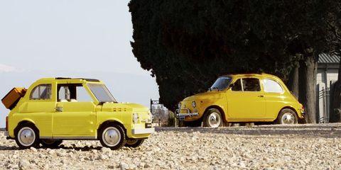 60年代,名車,フィアット500,レゴ・ブロック,1960s,Fiat 500,Lego