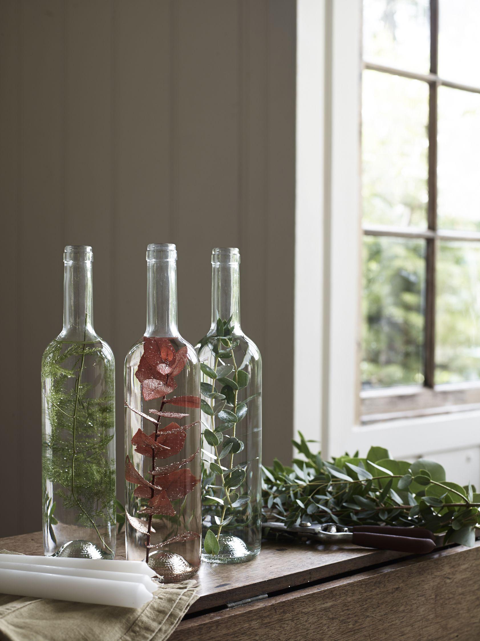 How to make eco foliage candle holders