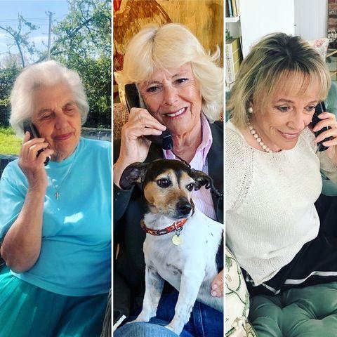 camilla duchess of cornwall silver line phone call birkhall