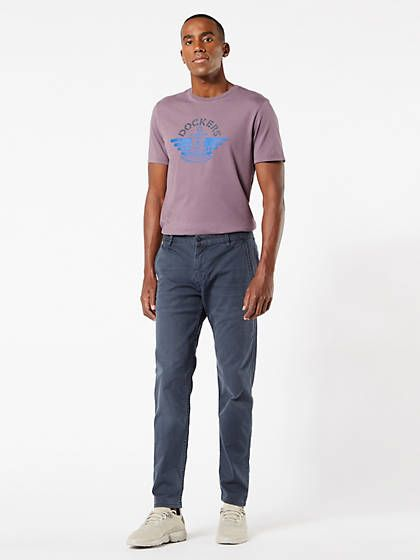 pantalones dockers alpha original chino, tapered fit