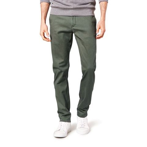 Dockers Washed Slim Tapered-Fit Olive Khaki Pants