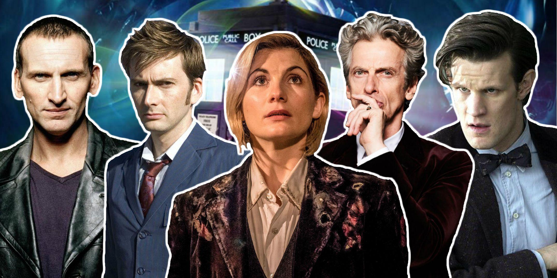 Doctor Who - modern era Doctors (Christopher Eccleston, David Tennant, Jodie Whittaker, Peter Capaldi and Matt Smith)