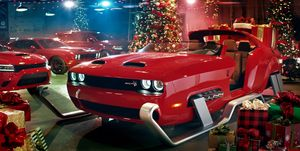 Dodge Challenger Hellcat Santa Sleigh