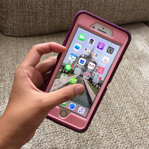 Gadget, Mobile phone, Communication Device, Portable communications device, Smartphone, Pink, Electronic device, Technology, Iphone, Material property,