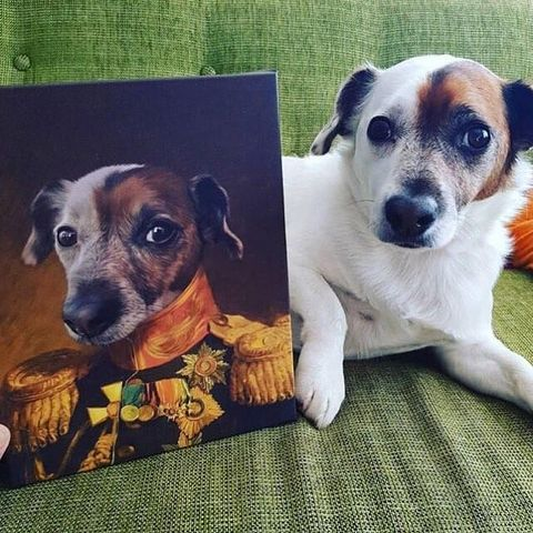 Crown & Paw dog painting