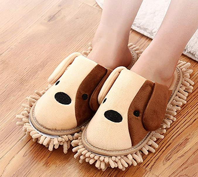 Amazon Is Selling the Cutest Slippers That Double as Dusters for Your Floor