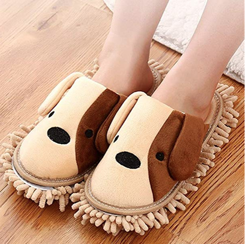 Amazon Dog Duster Mop Slippers