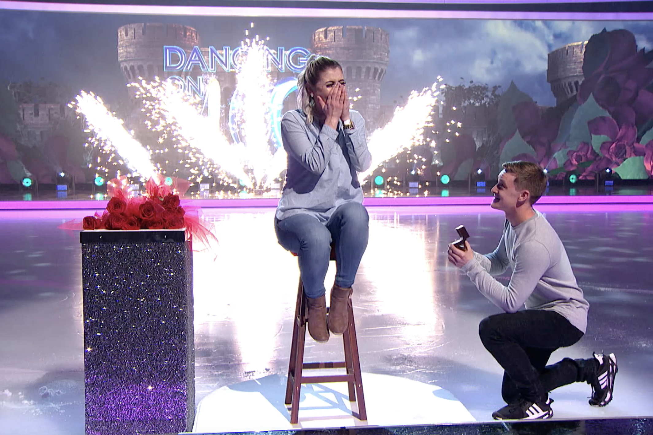 Watch the Dancing on Ice wedding proposal you didn't get to see on TV