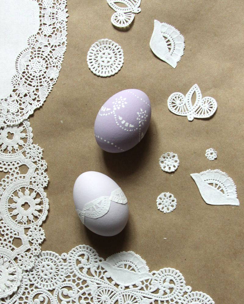 doily easter egg craft