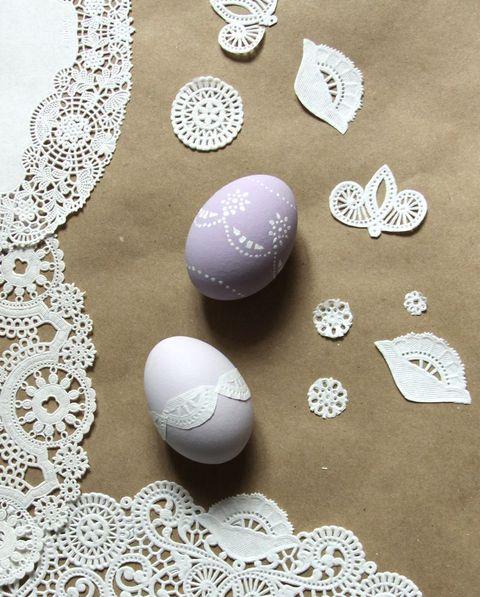doily easter egg craft