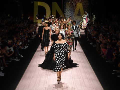 79f0545cd8e24 Dolce   Gabbana enlisted a starry and diverse cast for its SS19 show