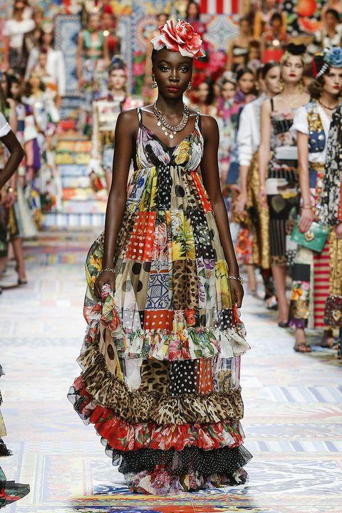 dolce  gabbana spring 2021 maxi dress