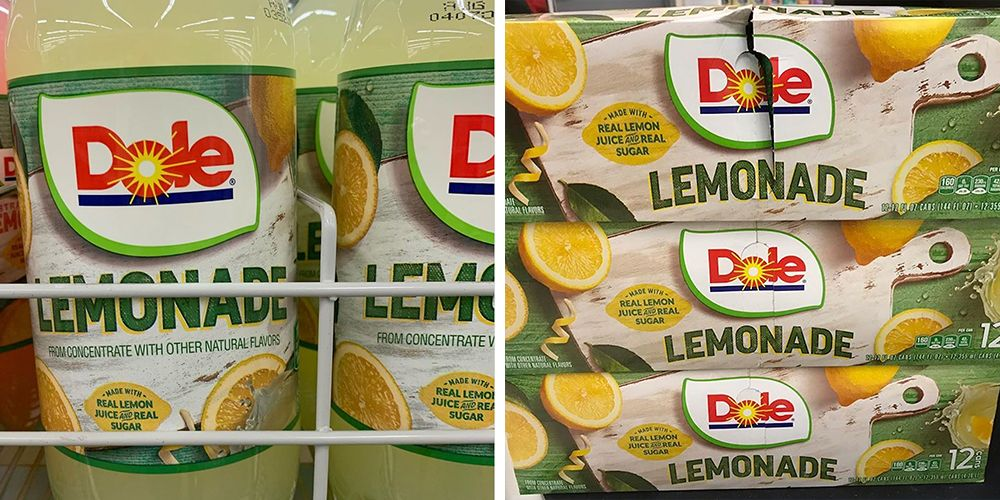 Dole Just Released Lemonade And Strawberry Lemonade In Time For The Warm Weather