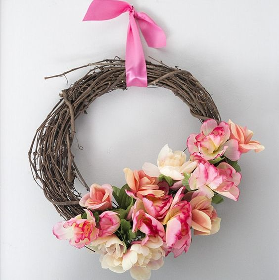 Dollar Store Sprig Wreath - mother's day crafts