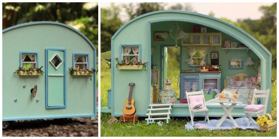 Diy Camper Dollhouse Kit Build Your Own Miniature Dollhouse Kit