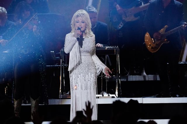 nashville, tennessee   november 13 dolly parton performs onstage at the 53rd annual cma awards at the bridgestone arena on november 13, 2019 in nashville, tennessee photo by mickey bernalwireimage