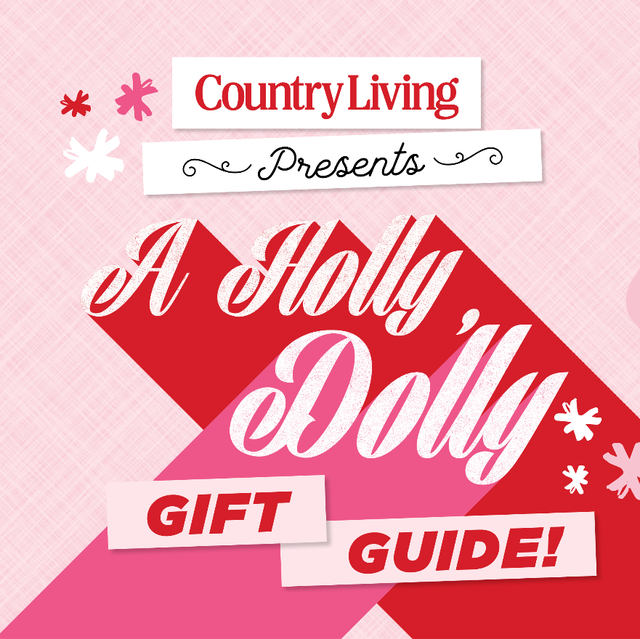 red and pink type that says a holly dolly gift guide