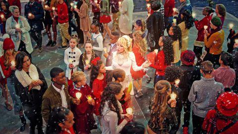 dolly parton en dolly parton navidad en la plaza