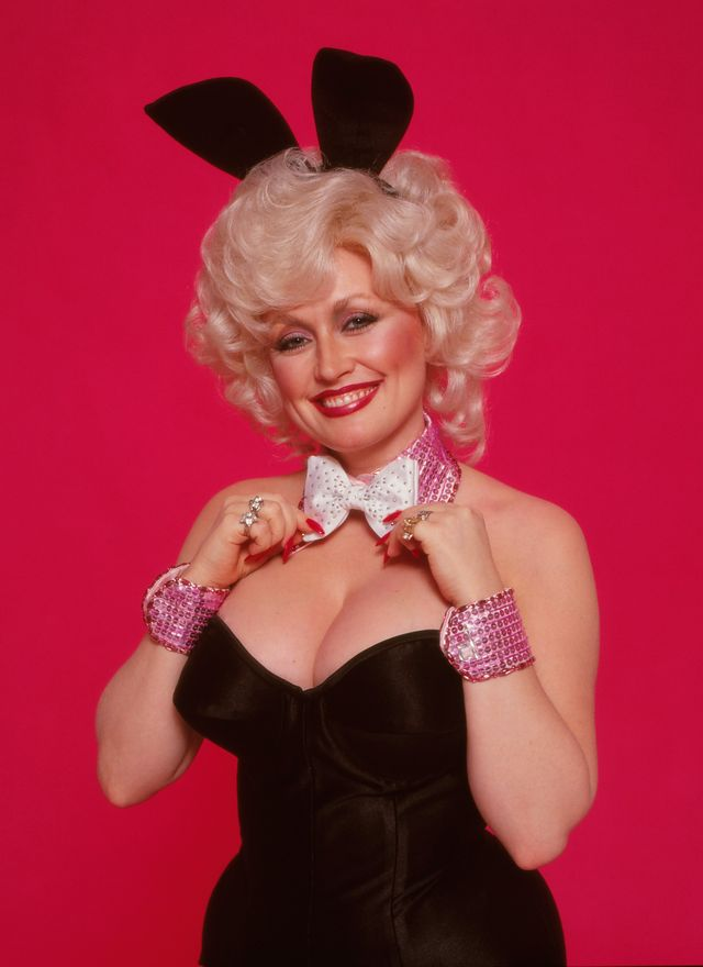 los angeles   1978  country singer dolly parton poses for a portrait session dressed as a playboy bunny, 1978 in los angeles, california photo by harry langdongetty images