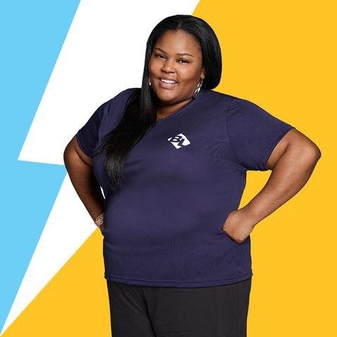 T-shirt, Yellow, Sleeve, Outerwear, Electric blue, Sportswear, Top, Neck,