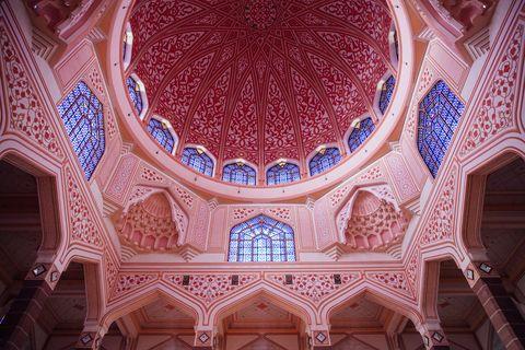 Dome decoration of the Putra Mosque, Putrajaya, Malaysia