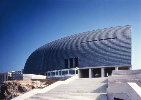 Architecture, Building, Daytime, Sky, House, Facade, Line, Opera house, Community centre, City,