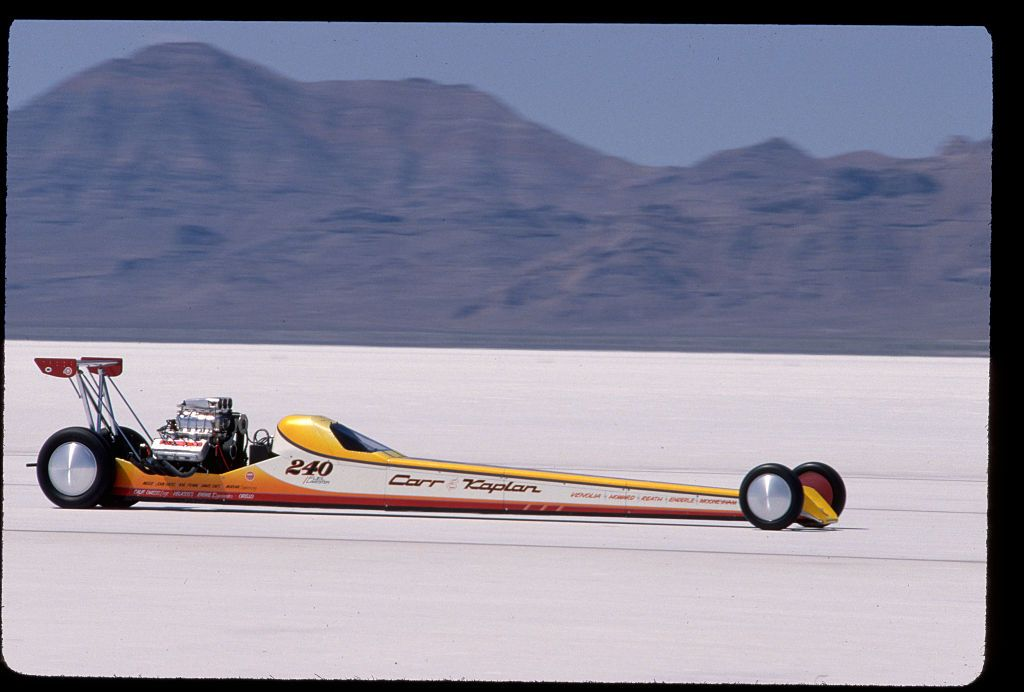Racecar Racing at Salt Flats