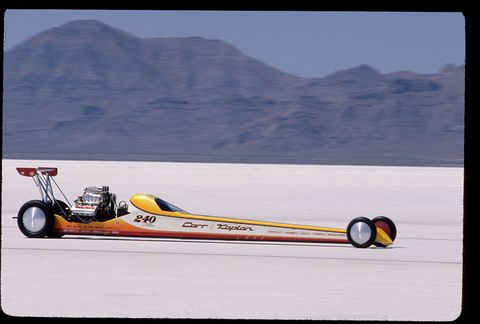 Racecar Racing at Salt Flats