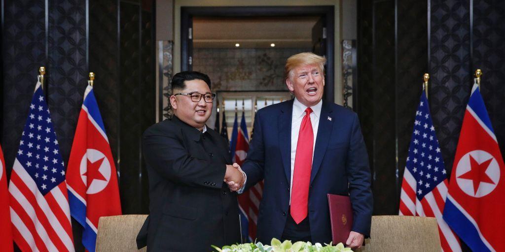 Donald Trump, Kim Jong-un, foto, perfect knap en slank, Donald Trump foto