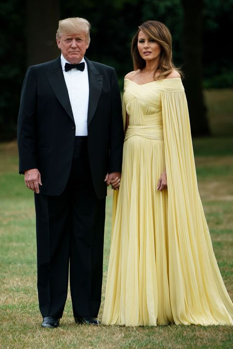 Melania Trump\'s yellow caped gown draws comparisons to a Disney Princess